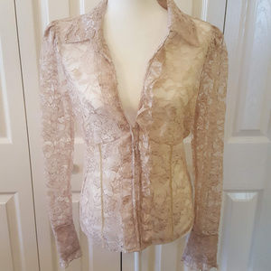 Moda International Sheer Lace Blouse 0012